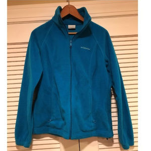 Columbia Teal Blue Fleece Jacket
